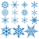 Vetores do floco de neve set1 Fotografia de Stock