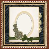 Vetores do fundo com um frame oval Imagem de Stock Royalty Free