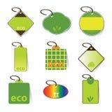 Vetores do Tag de Eco Imagens de Stock Royalty Free