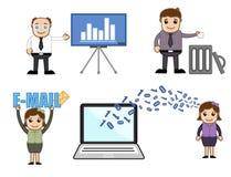 Vetores dos desenhos animados do negócio ilustração royalty free