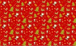 Vetores sem emenda vermelhos dos fundos do teste padrão do Natal, coleção fotografia de stock