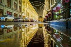 Vetoshny gränd runt om MoskvaGUMMI Royaltyfri Bild