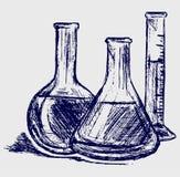 Vetreria per laboratorio illustrazione vettoriale