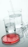 Vetreria per laboratorio Immagini Stock Libere da Diritti