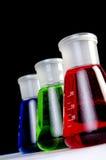 Vetreria per laboratorio - interruttori Fotografie Stock