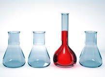 Vetreria per laboratorio su priorità bassa luminosa illustrazione vettoriale