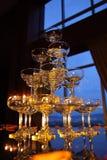 Vetri 01 di Champagne Fotografia Stock