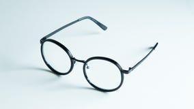 Vetri classici dell'occhio nero isolati su fondo bianco Fotografia Stock Libera da Diritti