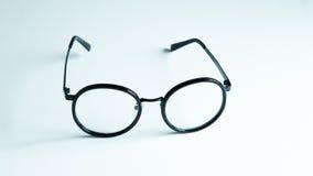 Vetri classici dell'occhio nero isolati su fondo bianco Immagini Stock Libere da Diritti
