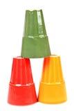 Vetri colorati Immagini Stock