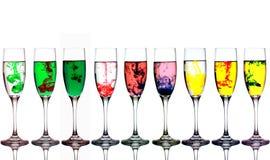 Vetri Colourful Fotografia Stock