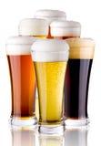 Vetri con birra Fotografia Stock