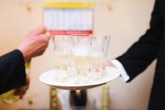 Vetri con champagne Immagine Stock Libera da Diritti