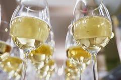 Vetri con champagne Fotografie Stock