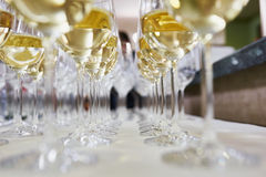 Vetri con champagne Immagini Stock