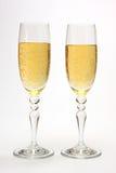 Vetri con champagne. Fotografia Stock Libera da Diritti