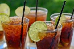 Vetri con il cocktail di rum Fotografie Stock