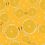 Vetri con la riflessione su un fondo arancio luminoso Immagine Stock Libera da Diritti