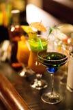 Vetri con le bevande variopinte Immagine Stock Libera da Diritti