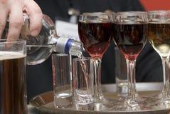Vetri con vino. Fotografia Stock