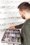 Vetri correttivi dell'occhio fotografie stock libere da diritti