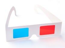 vetri 3D isolati su priorità bassa bianca Immagini Stock Libere da Diritti