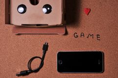 vetri 3D per il gioco sul telefono cellulare immagini stock