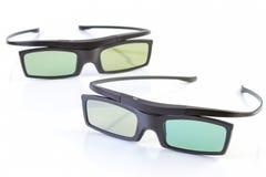 vetri 3D su bianco Fotografia Stock