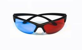 vetri 3D su priorità bassa bianca Fotografia Stock Libera da Diritti
