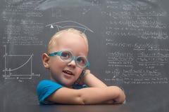 Vetri d'uso del neonato con uno sguardo abile Fotografia Stock Libera da Diritti
