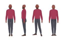 Uomo calvo personaggio dei cartoni animati illustrazione di