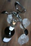 Vetri da bottiglia della cavaturaccioli Fotografia Stock Libera da Diritti