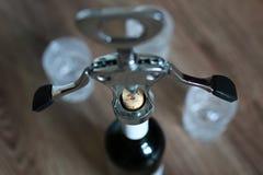 Vetri da bottiglia della cavaturaccioli Fotografia Stock
