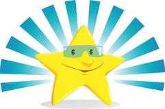 Vetri da portare sorridenti della stella Immagini Stock