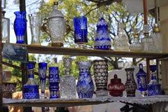 Vetri degli oggetti d'antiquariato Fotografia Stock