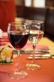Vetri dei bicchieri di vino Fotografia Stock