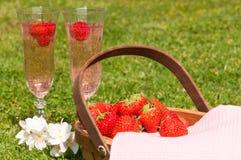 vetri del champagne Fotografie Stock Libere da Diritti