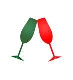 Vetri del champagne di festa Immagini Stock