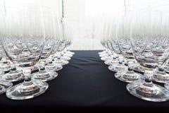 Vetri del champagne di nozze Immagine Stock