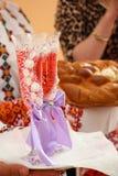 Vetri del champagne di nozze Fotografia Stock Libera da Diritti