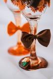 Vetri del champagne di nozze Fotografie Stock