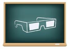 Vetri del cinema 3D del bordo Immagini Stock Libere da Diritti