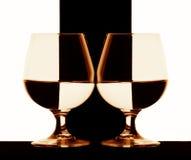 Vetri del cognac Immagini Stock Libere da Diritti