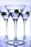Vetri del Martini Fotografia Stock