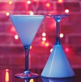 Vetri del Martini con le riflessioni Fotografia Stock