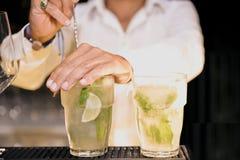 Vetri del partito di vetro della bevanda Immagine Stock