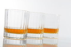 Vetri del whiskey Immagini Stock