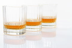 Vetri del whiskey Fotografia Stock Libera da Diritti