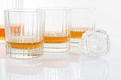 Vetri del whiskey Fotografie Stock Libere da Diritti