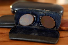 Vetri dell'occhio di Pince Nez Fotografia Stock Libera da Diritti